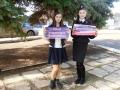 Члены клуба Щит и меч Саблина Марина, Бедокурова Полина поздравляют своих родителей - сотрудников полиции